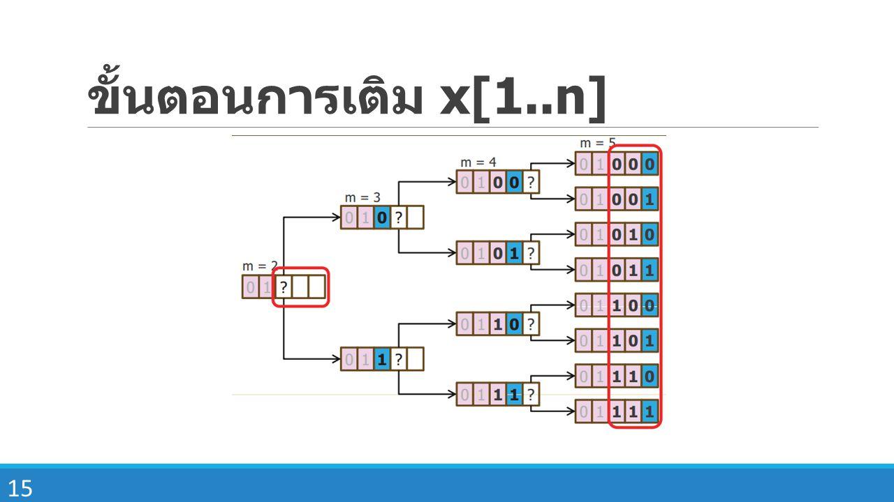 ขั้นตอนการเติม x[1..n]